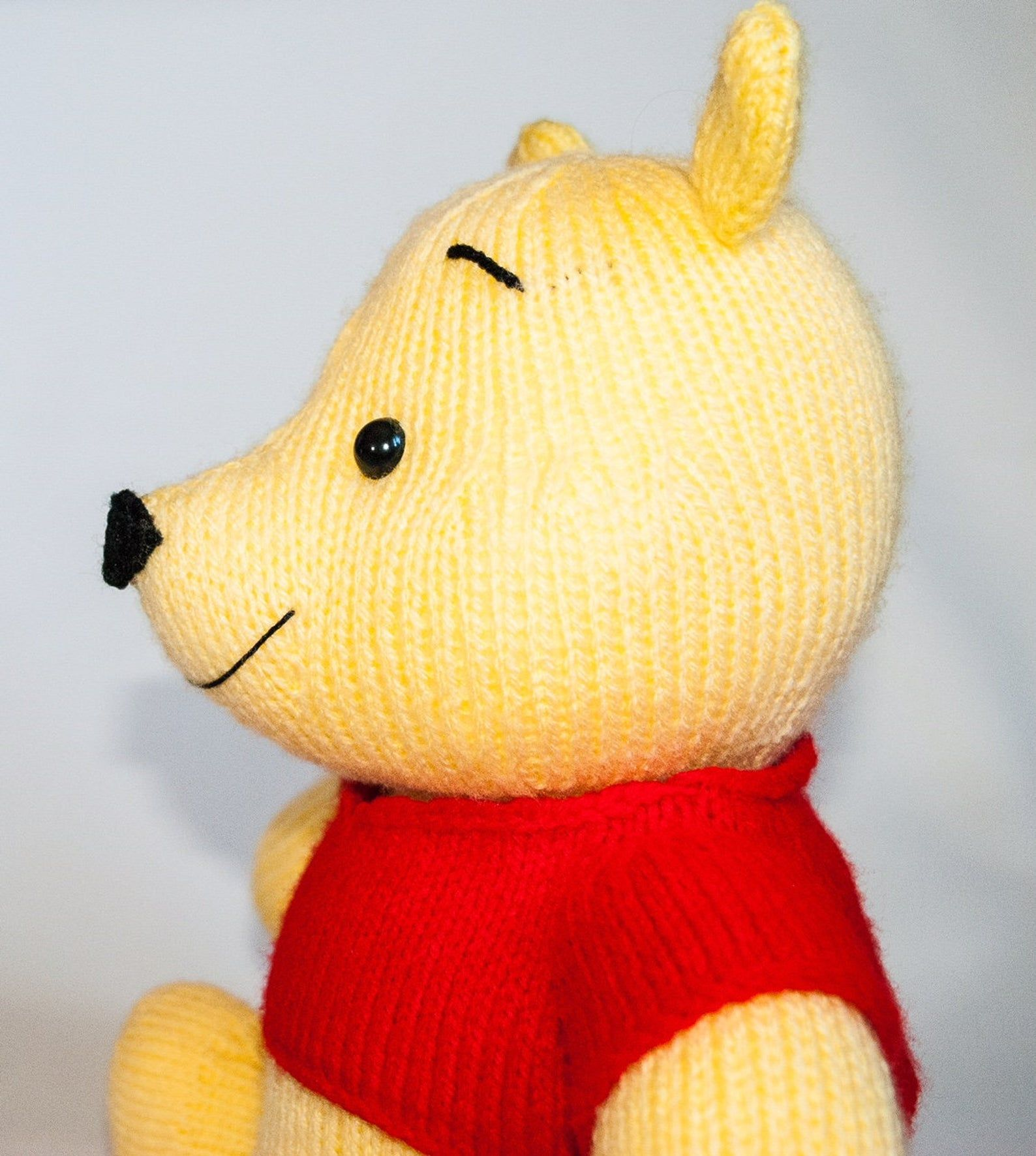 Eeyore inspired choc orange cover 15cms Winnie the Pooh toy KNITTING PATTERN