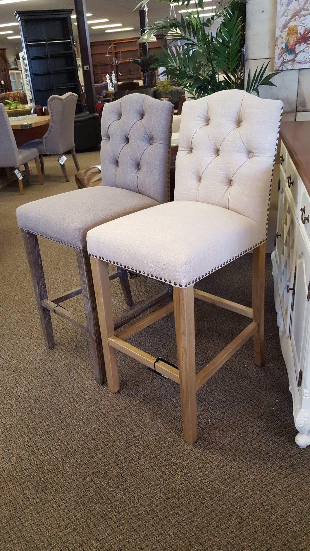 Tufted bar stools Furniture building Pinterest