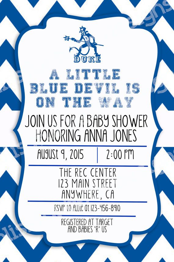 separation shoes 3a974 9839e DUKE BABY SHOWER Duke Blue Devils Baby by BlissfulBethDesigns