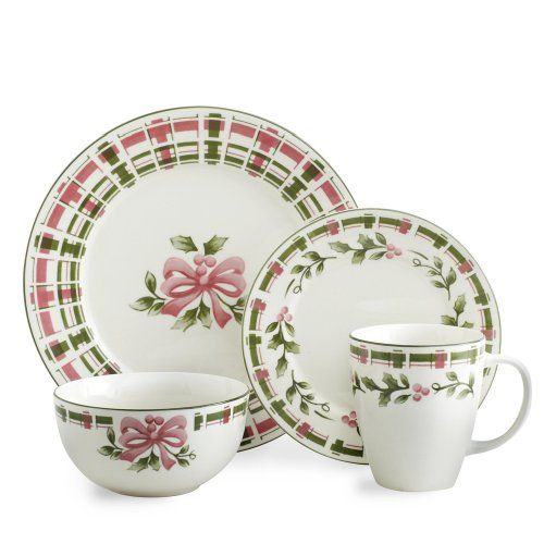 Pfaltzgraff Christmas Plaid Dinnerware Set 32 Piece Service for 8 - Green And Pink Pfaltzgraff//.amazon.com/dp/B0064K16NA/ref\u003d ...  sc 1 st  Pinterest & Pfaltzgraff Christmas Plaid Dinnerware Set 32 Piece Service for 8 ...