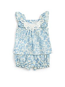 Ralph Lauren - Infant's Two-Piece Floral Tunic & Bloomers Set - Saks Fifth Avenue Mobile
