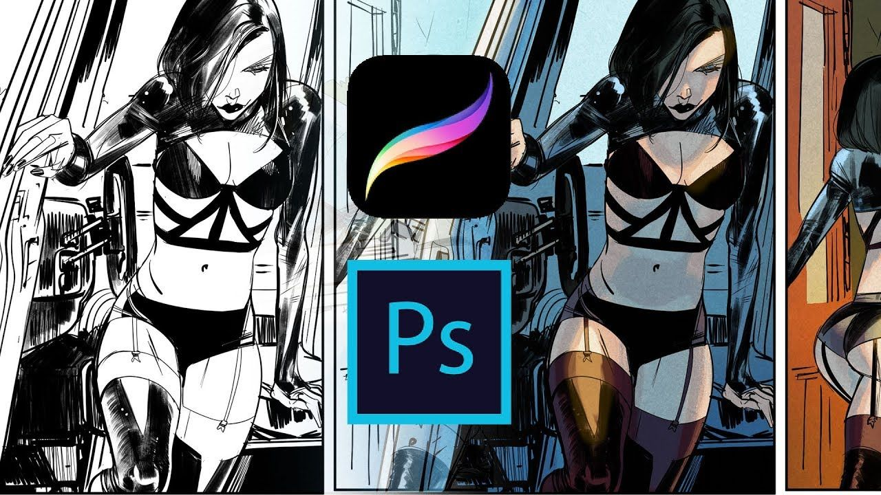 How To Think When Coloring A Procreate Photoshop Comic Coloring Tut Comic Tutorial Concept Art Characters What Is Digital Art