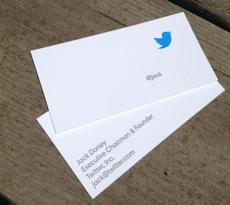 Beautiful business cards for Twitter founder, Jack Dorsey. By Full ...