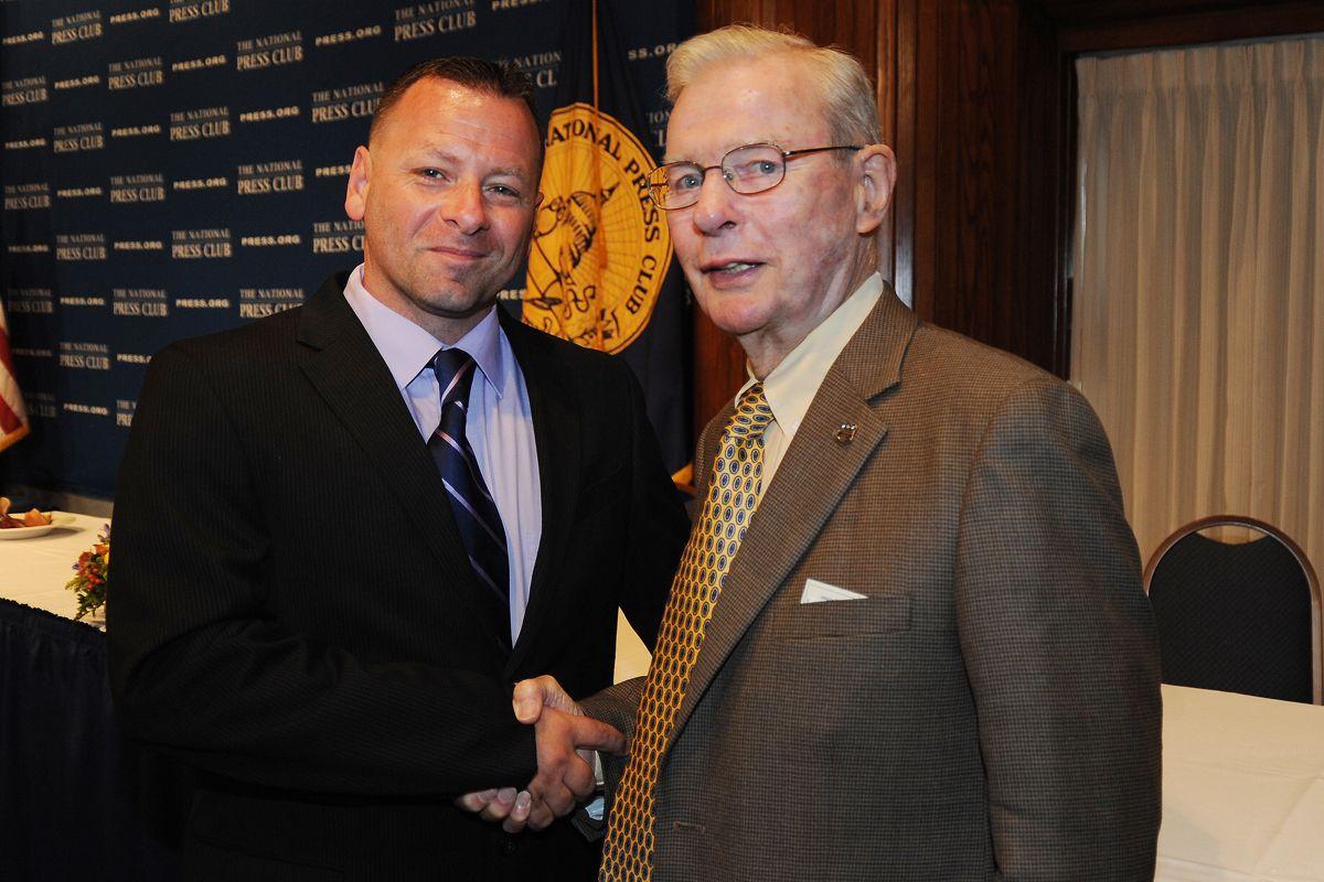 Barry R. Donadio and James Dunbar at the National Press Club on May 28th 2014