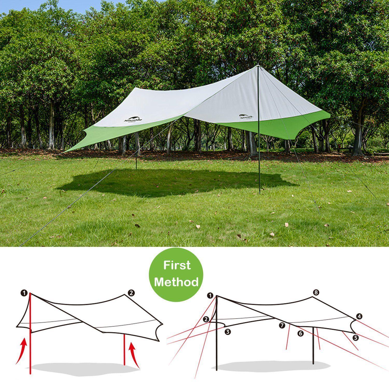 Topnaca Portable Outdoor Shade Camping Tent Tarp Sun