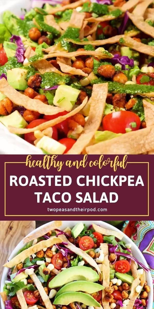 Roasted Chickpea Taco Salad