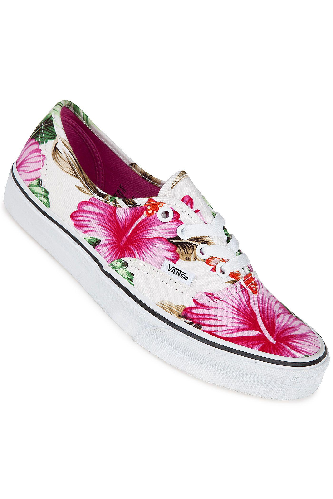 bb7503156618e5 Vans Unisex Hawaiian Floral Skateboarding Shoes-Hawaiian Floral ...