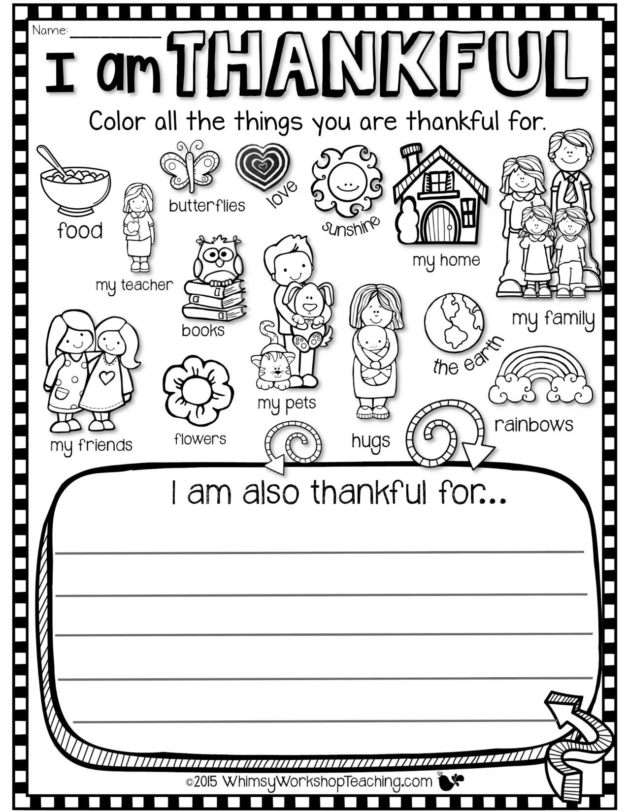 Another Thanksgiving Coloring Sheet