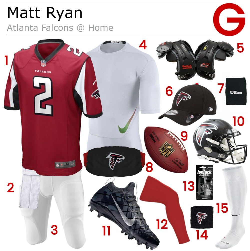 Matt Ryan Gear Football Pants Nfl Gear Atlanta Falcons