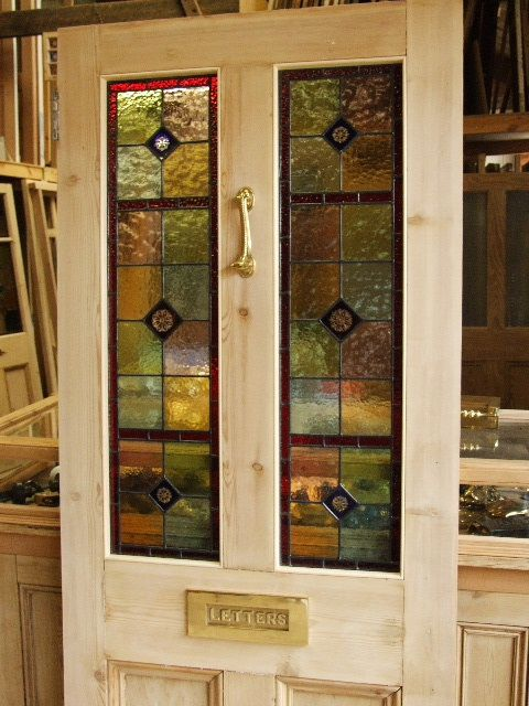 Stained Glass Reclaimed Victorian Front Door Mozaiky A Vitraze