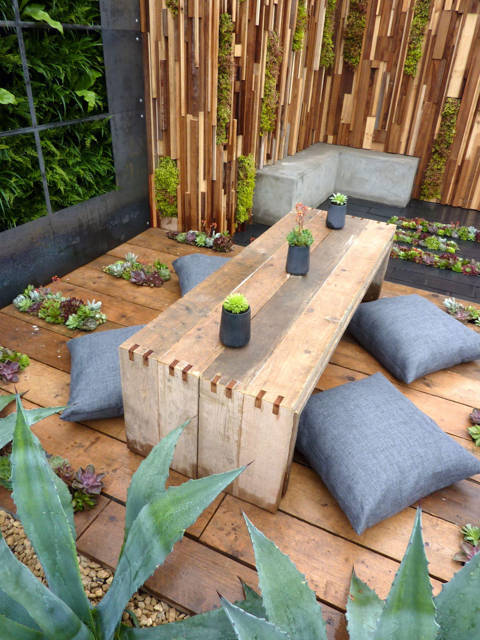 Scaffold Board Deck And Furniture Garden Designed By Jade Goto Landsape Studio Furniture Construction By Outdoor Meditation Meditation Garden Garden Design Diy backyard yoga studio