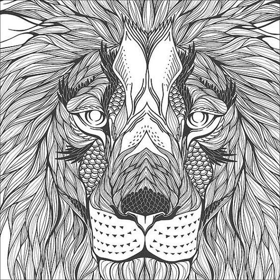 Coloring Pages Animal Kingdom Craftsman Zen Book Livros Wild Animals Crayon Art Colouring