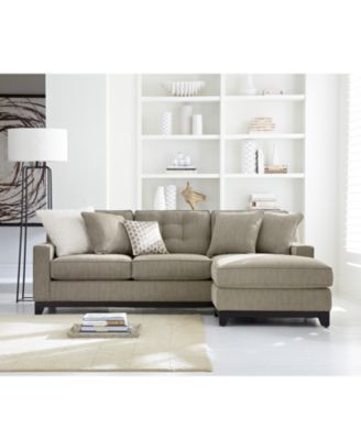 Clarke Fabric Sectional Sofa Living Room Furniture Sets Pieces