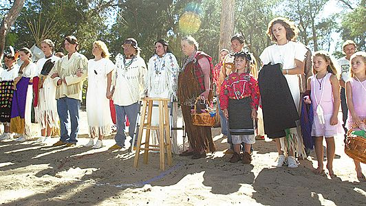 Cherokee Families Present During The Ceremony