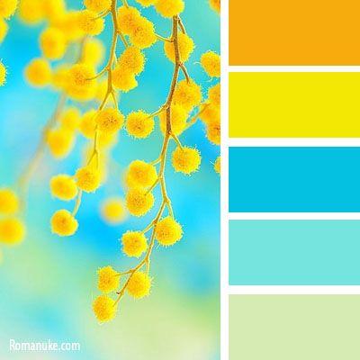 Couleurs d\'été \ Orange Jaune Bleu Turquoise | Couleur ...
