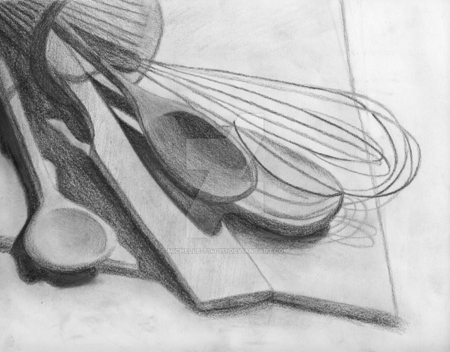 "Kitchen Tools Drawings drawing still life cooking supplies - google search | ""still life"