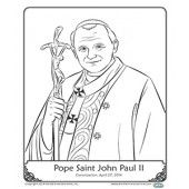 Coloring Page Pope St John Paul Ii Fun With Our Faith