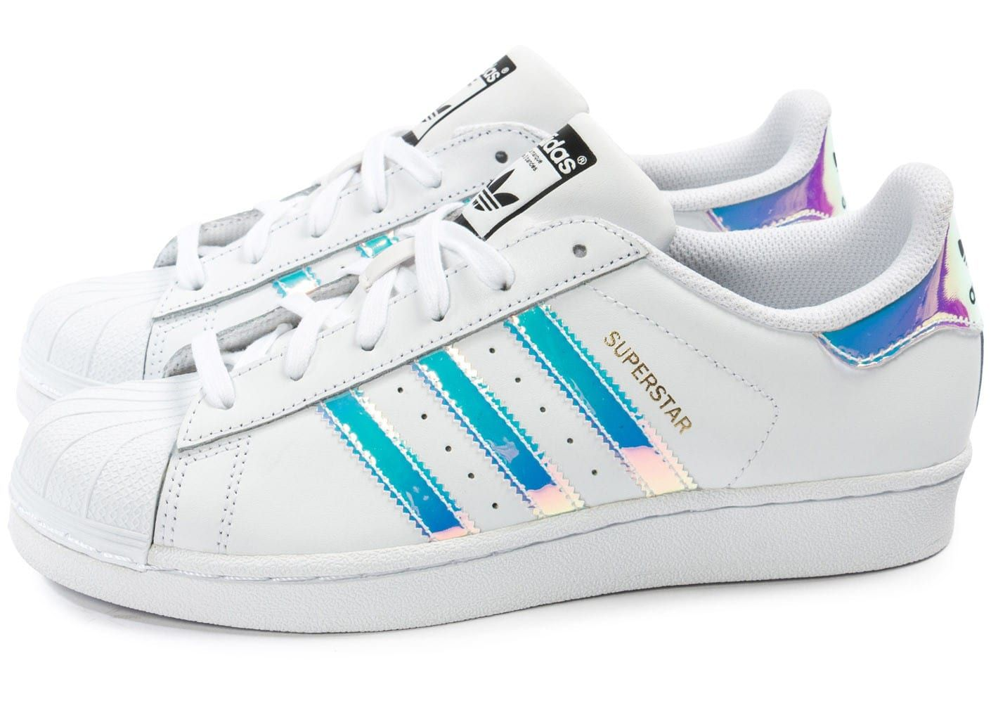 Chaussures adidas Superstar Irisée Junior vue extérieure