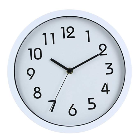 Hito Silent Wall Clock Non Ticking 10 Inch Excellent Accurate Sweep Movement Glass Cover White Wall Clock Clock Wall Clock Modern