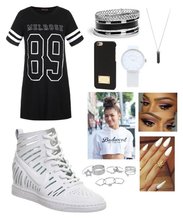 """Hella Style "" by fashion-1407 on Polyvore featuring Ally Fashion, NIKE, GUESS, Marc by Marc Jacobs, Michael Kors, Karen Kane and Lipsy"