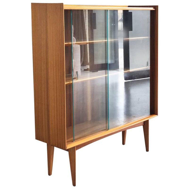 1960s Mid Century Vintage British Teak Book Case With Glass Doors Vintage Bookcase Bookcase Glass Door