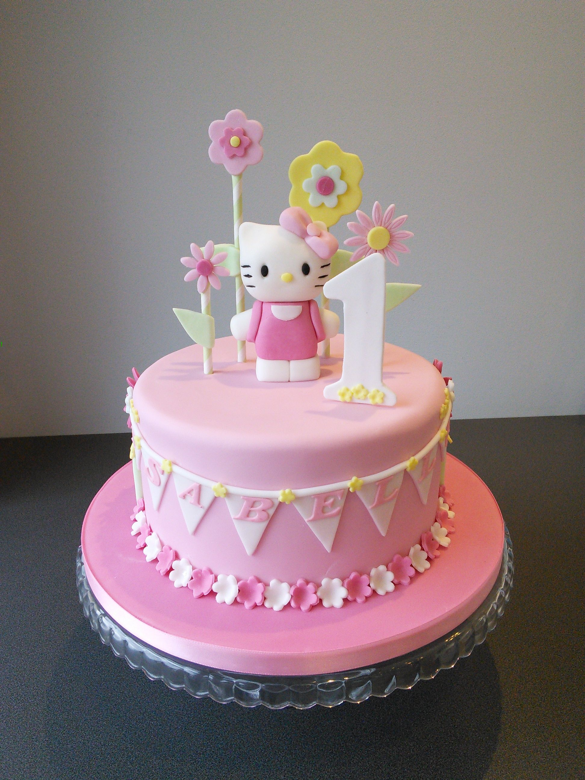 Hello Kitty 1st Birthday Cake Girls Birthday Cakes Pinterest