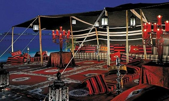 Al Arabic Terrace Tent in Doha | Bedouin tent, Four ...