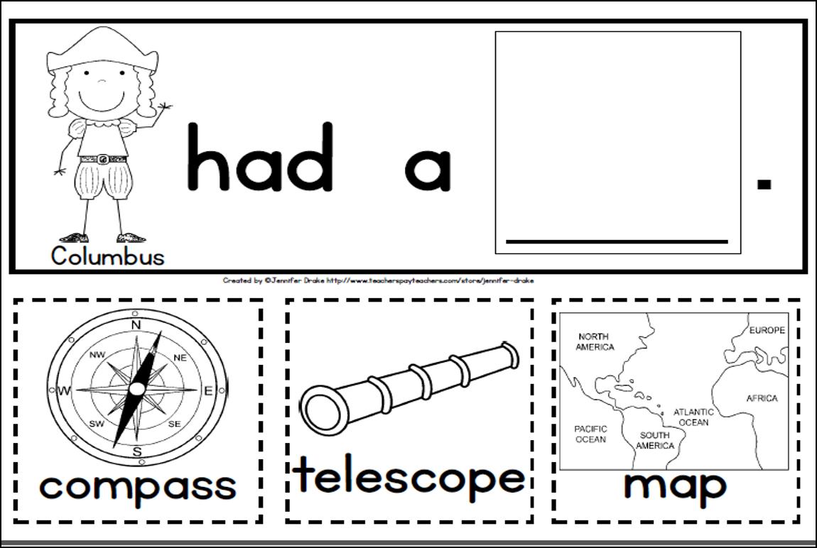 Columbus Day Fun For Kids In Prek 1 Poem Printables