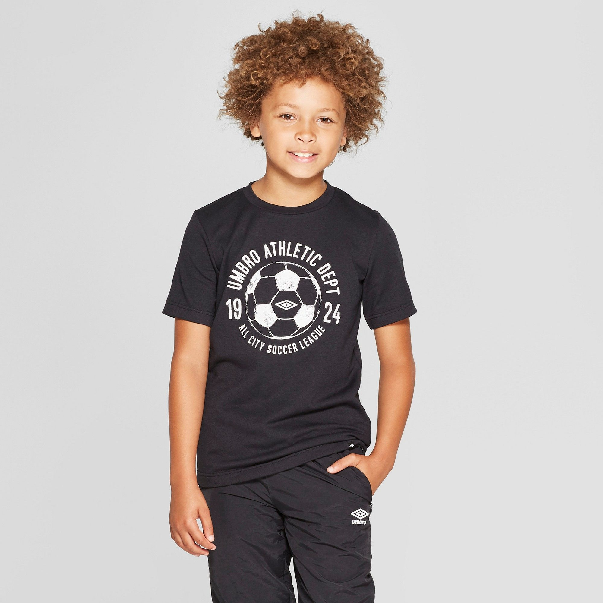 a0bfbfc311d Umbro Boys  French Terry Graphic T-Shirt - Black XS