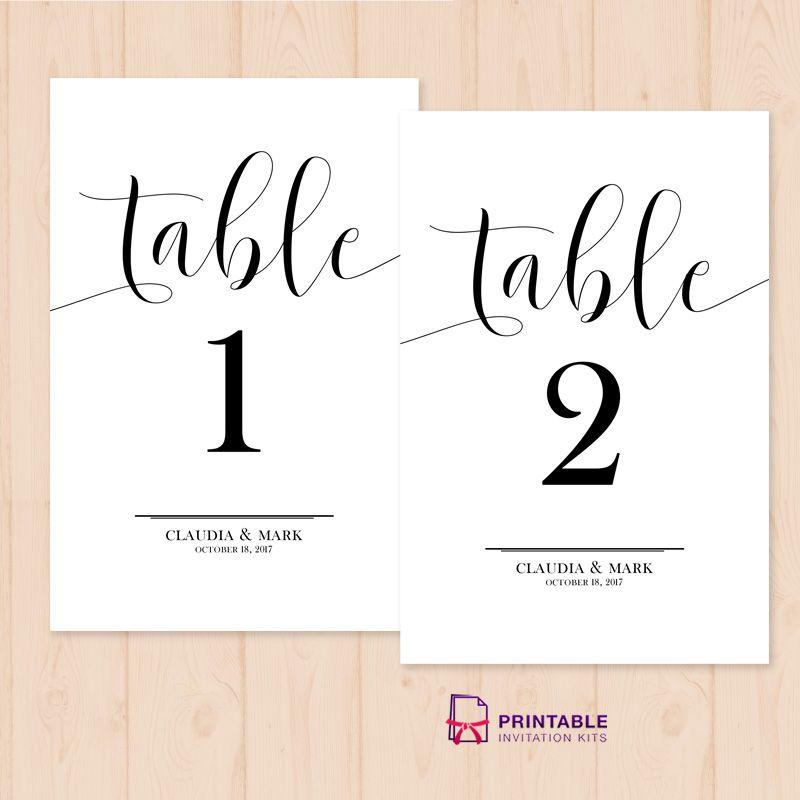 Luscious Diy Printable Table Numbers Kenzi S Blog