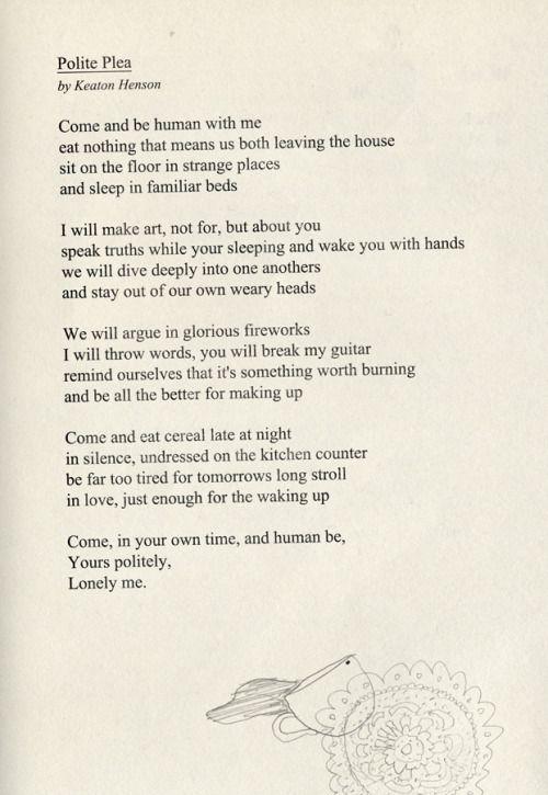 Keaton Henson | Keaton | Poetry quotes, Keaton henson, Quotes