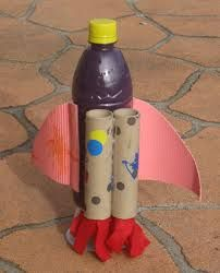 Image result for rocket ship made of carton   Crafts from recycled ...