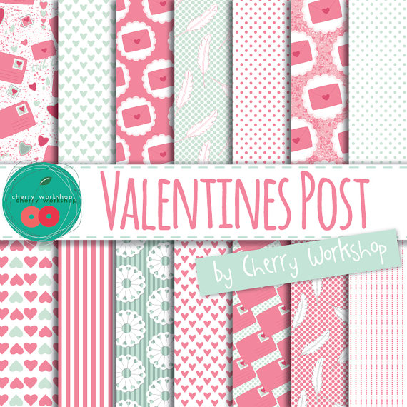 Valentines Day Digital Paper Pack Digital Backgrounds for Valentines Day Pink and Mint Digital Paper Pack High quality digital paper for wedding, party, decor, scrapbook, cards, invites and more. ►WHAT IS INCLUDED◄ This digital paper pack includes:  •16 high quality digital papers •JPEG files •12 in x 12 in (3600 px X 3600 px) •300 DPI  ►INSTANT DOWNLOAD◄  This is a DIGITAL ITEM. No physical item is included in this purchase. You will be able to download your files once the payment is…