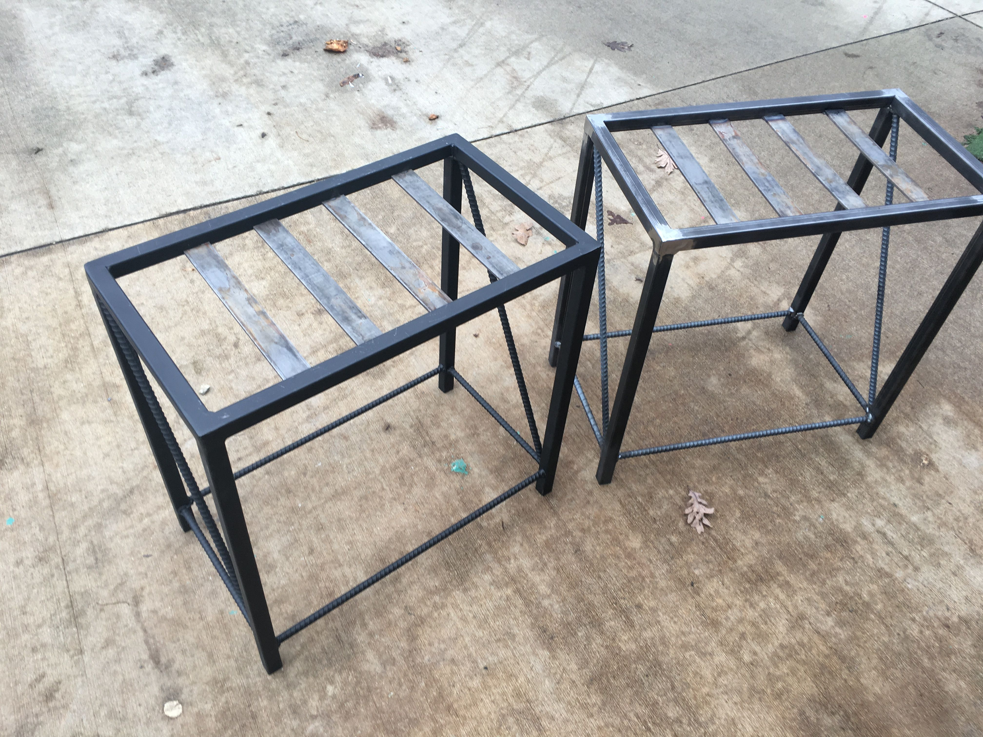 Awesome Tubular Steel Flat Bar And Rebar End Table Frames Wood Ibusinesslaw Wood Chair Design Ideas Ibusinesslaworg