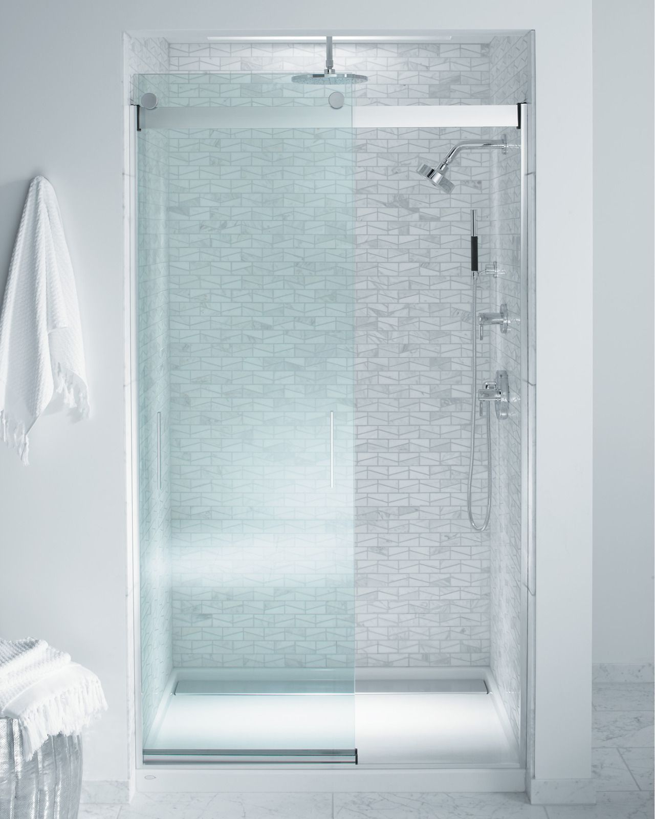 The Bold Look of | Custom shower, Shower doors and Glass panels