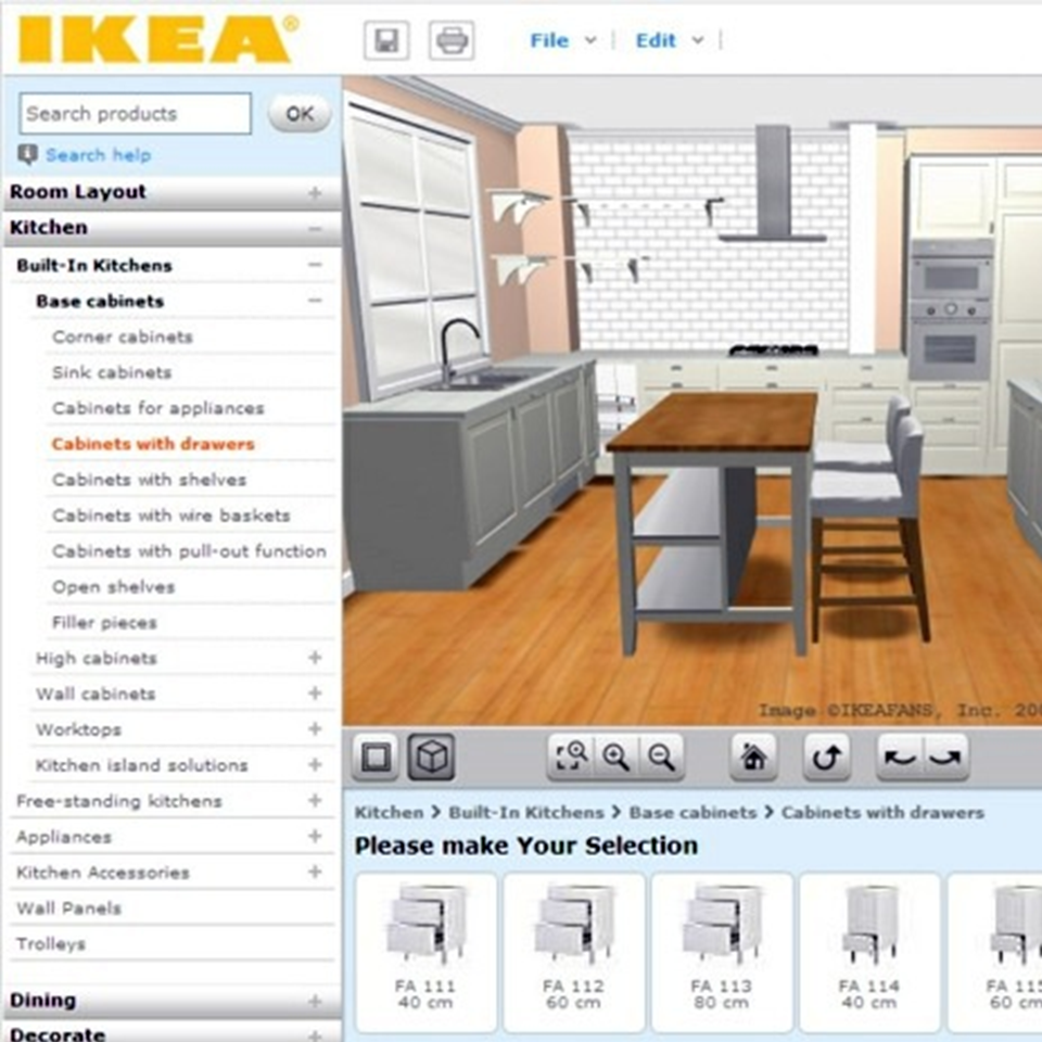 with ikea 3d kitchen planner users can play around with laying out