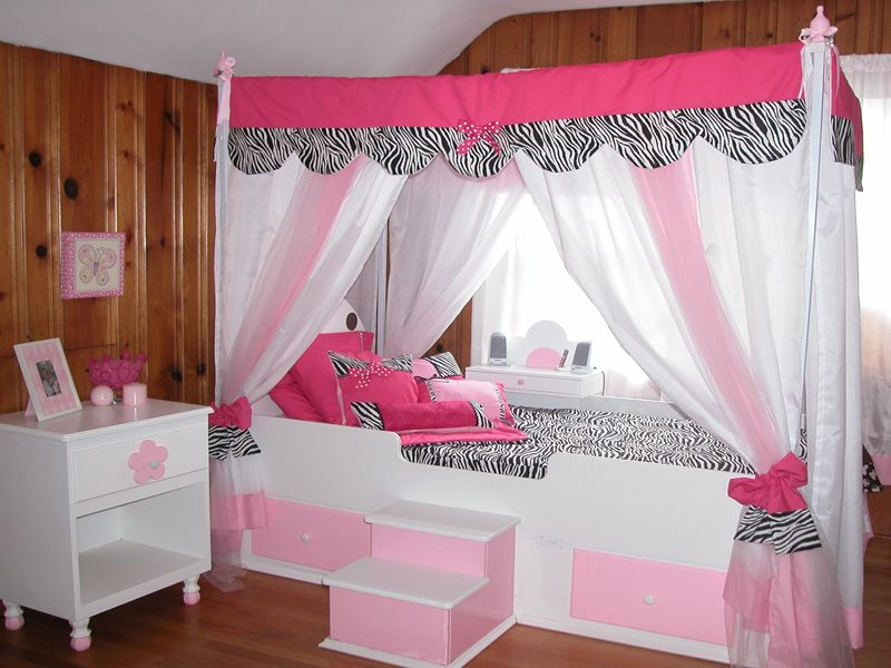 Zebra: Is It Too Much of a Good Thing. Full Canopy BedLittle Girl Canopy  BedTeen ...