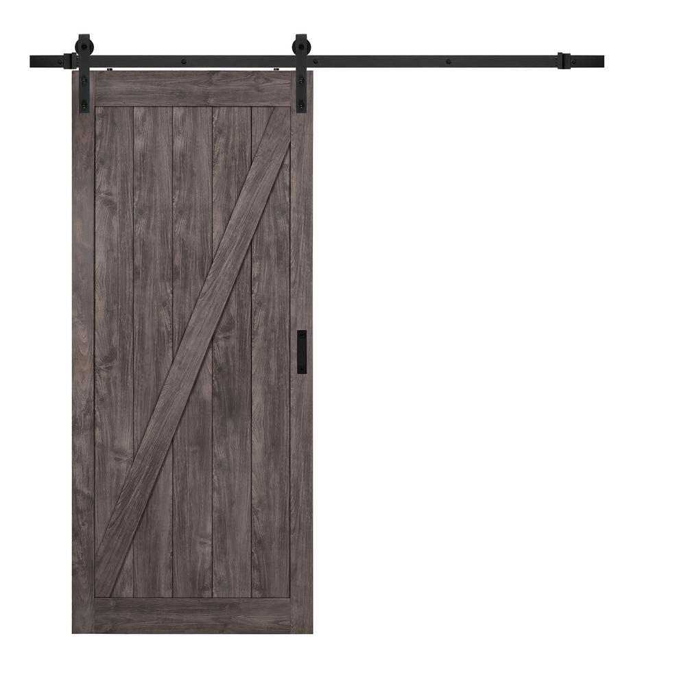 Truporte in x in iron age z design solid core interior barn