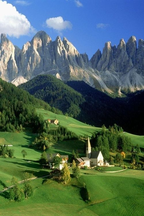 The Dolomites Italy The Dolomites Are A World Unto Themselves Beautiful Landscapes Beautiful Nature Scenery