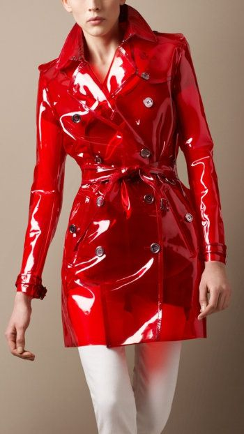 Burberry perspex trench...I LOVE this trench! I want to have it so I can  wear it with a fun clear umbrella!! e011b4c53