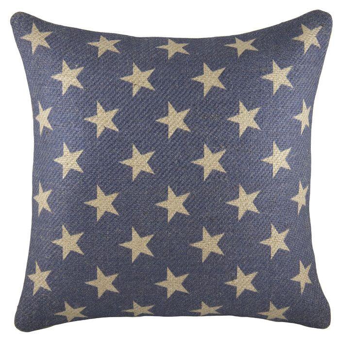 Patriotic Stars Burlap Throw Pillow Burlap Throw Pillows Burlap Extraordinary Burlap Star Decorative Pillow