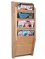 wood Magazine Racks 4 Pocket