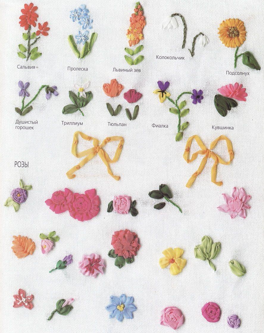 Flores y flores   Listón   Pinterest   Bordado, Cinta de seda y Seda