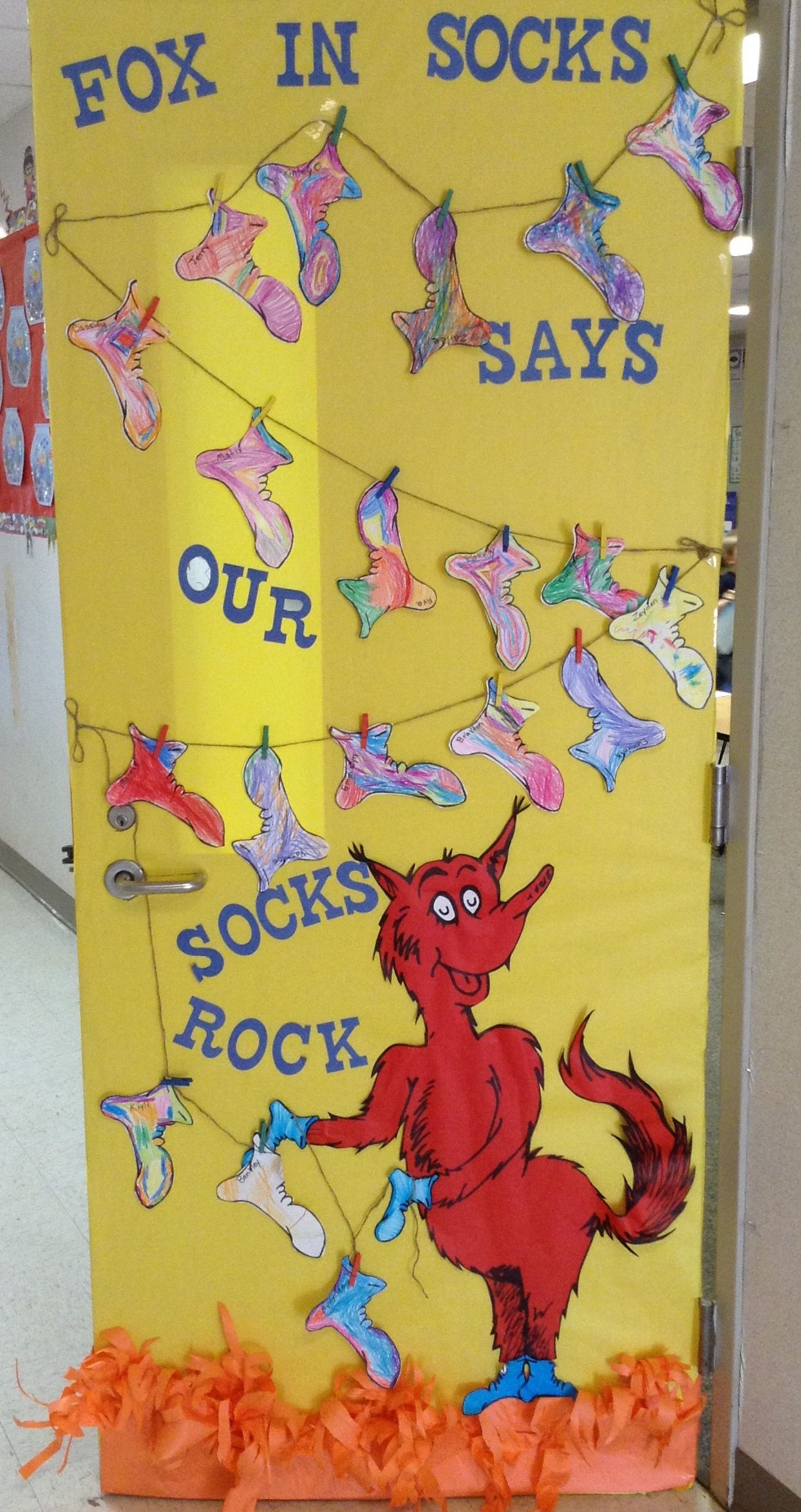 Dr Seuss Fox In Socks Door For Our Pre K Door