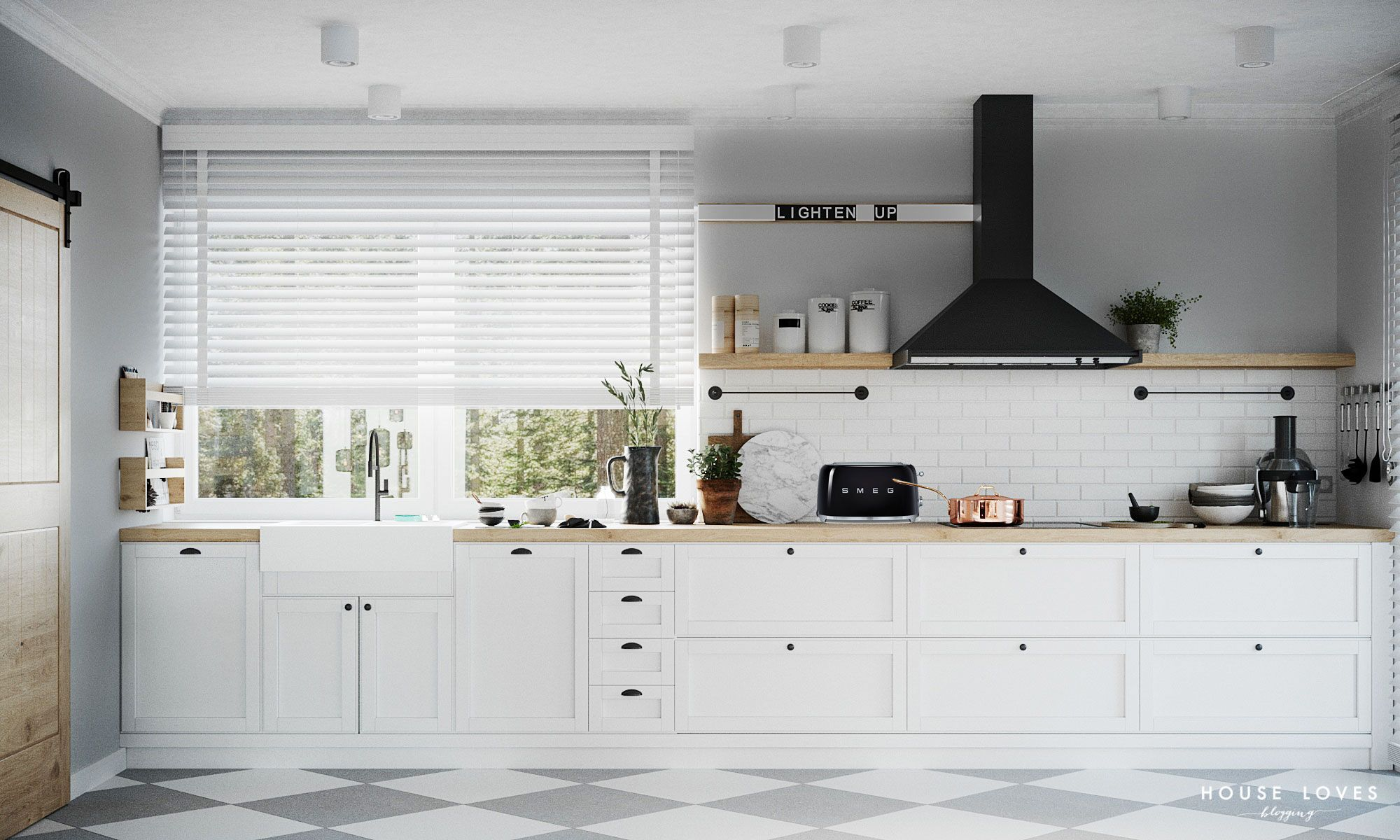 Projekt Anvi Salon Jadalnia I Kuchnia W Stylu