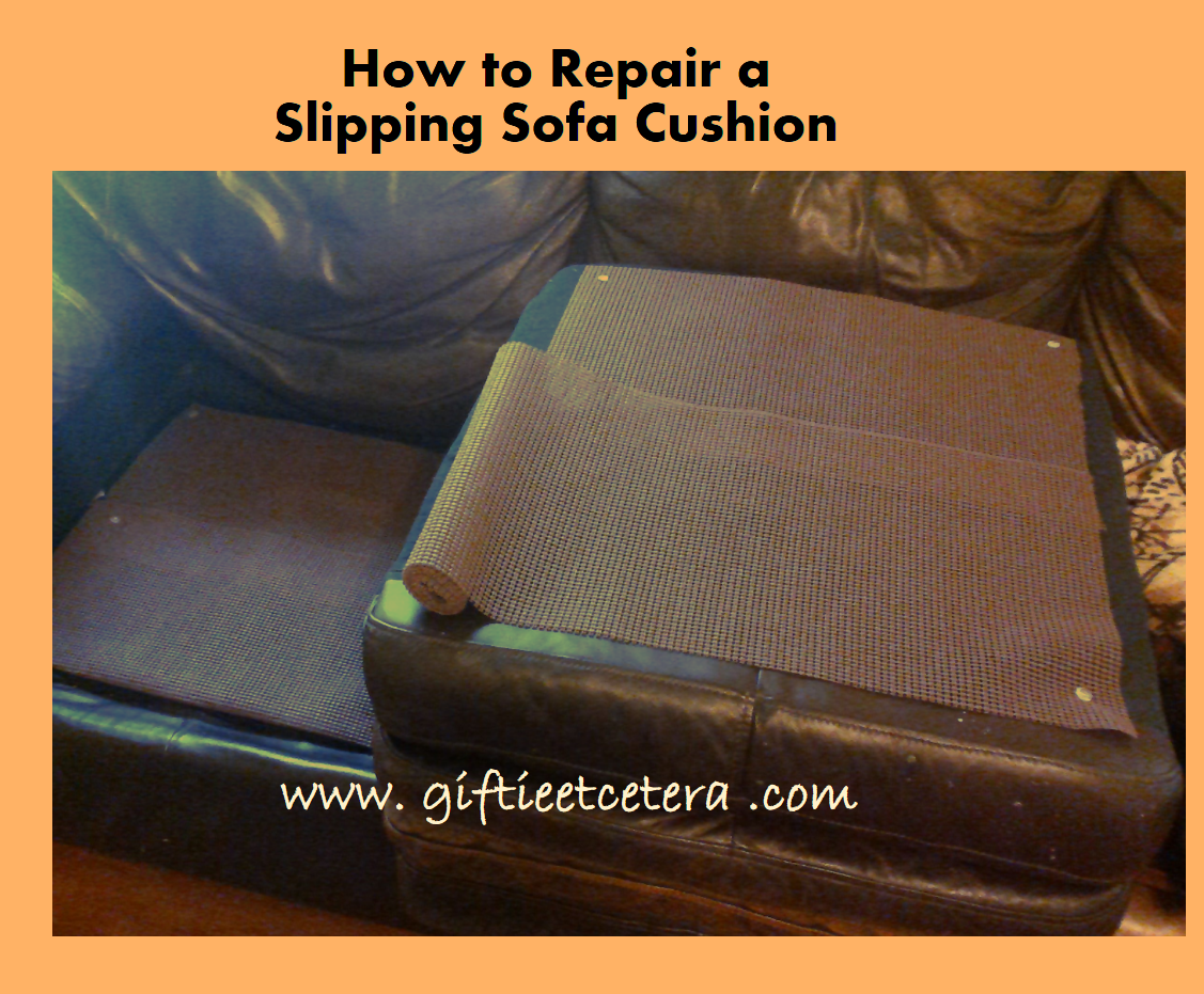 how to fix sofa back cushions broyhill laramie sleeper repair a slipping cushion home pinterest