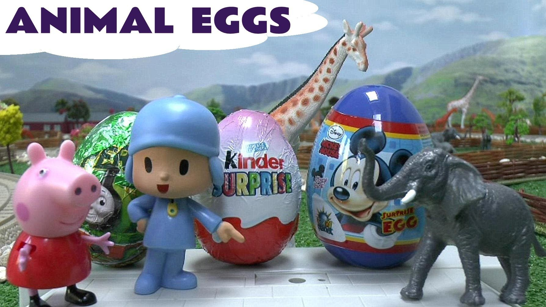 0dc2787f530 Surprise Eggs Mickey Mouse Clubhouse Thomas & Friends Disney Princess Ki...  The animals at Sodor Zoo have found 5 surprise eggs.