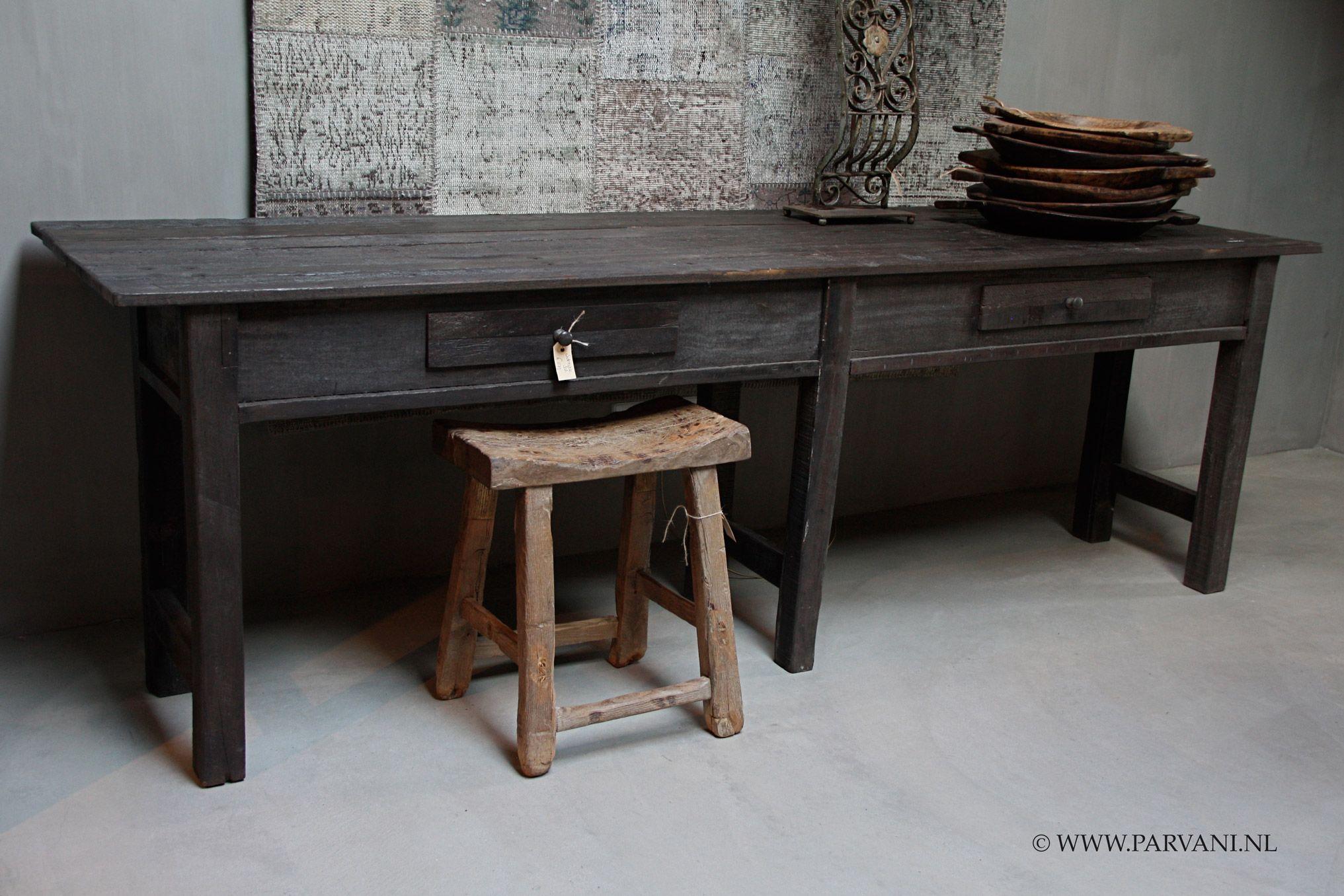 Side Table Donker Hout.Parvani Sidetable Sali Hoffz Hout Stoer Robuust Donker Parvani