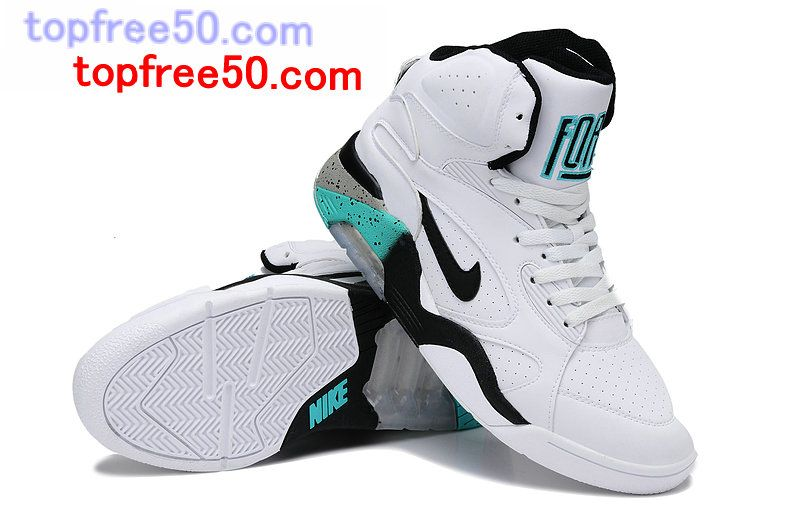f26e486adf Nike Air Force 180 Mid White Black Wolf Grey Blue Emerald 537330 100  #Basketall #Shoes for #Cheap
