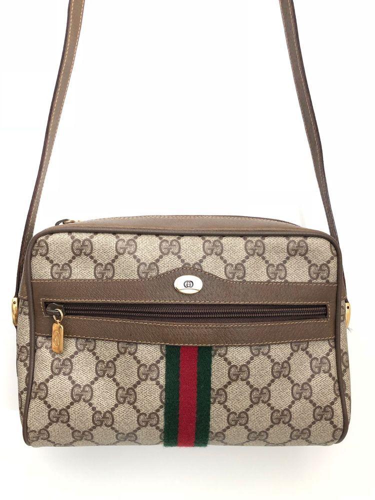 cb9afcaa3d2e GUCCI Vintage Ophidia GG Supreme Shoulder Crossbody Bag | Designer ...